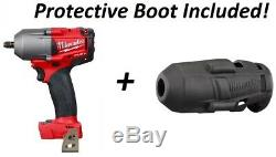 Milwaukee 2852-20 M18 FUEL Mid Torque 3/8 Drive Impact Wrench Gun With Boot