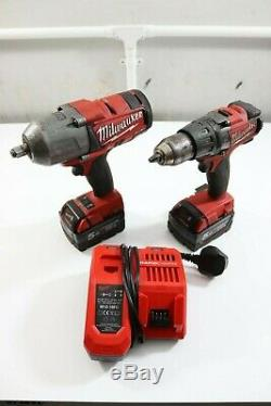 Milwaukee M18 CHIWf12 1/2 drive 18V 5AMP impact wrench gun & Drill M18FPD