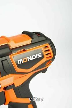 Mondis 20V 1/2 Cordless Impact Wrench Lithium-Ion Battery Rattle Gun Sockets