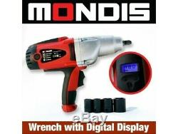 Mondis 240v Impact 1/2 Wrench (480nm) Automotive Kit Rattle Gun Adjust Torque