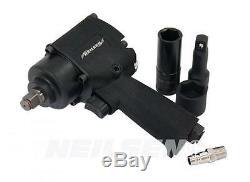 Neilsen 1/2 Air Impact Wrench Gun Kit Sockets Extensions Heavy Duty 3941