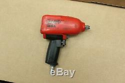 Nice Red Snap On 1/2 Air Impact Wrench Gun MG725 with Boot Tested Good