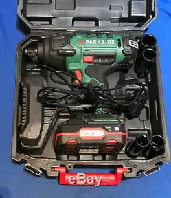 PARKSIDE 20V CORDLESS VEHICLE IMPACT WRENCH/ GUN PASSK 20-Li A1 2x 2ah Batteries