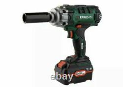 Park Side Impact Wrench Cordless gun 4ah + Charger + sockets passk 20-li 20v
