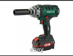 Parkside Cordless 20v Impact nut gun wrench & sockets 3-year warranty invoice