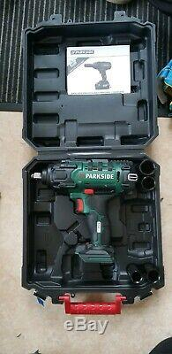 Parkside powerful Cordless car Vehicle Impact Wrench Gun 20V 4ah battery charger