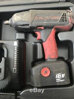 SNAP ON 1/2 IMPACT GUN 18V and Drill 2x batteries and case driver wrench