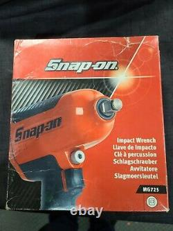 SNAP-ON MG725 1/2 HEAVY DUTY AIR IMPACT WRENCH GUN Classic Snap-On RED