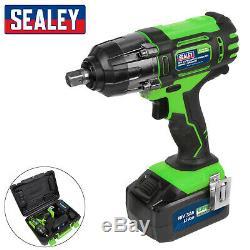 Sealey 18V Cordless 1/2 Impact Wrench CP400LIHV Gun 3Ah Li-ion Battery Charger