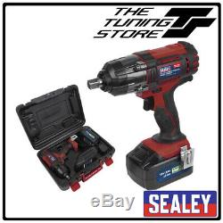 Sealey 18V Cordless 1/2 Impact Wrench Gun 3Ah Li-ion Battery Charger CP400LI