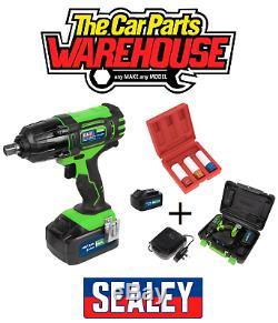 Sealey CP400LIHV Impact Wrench / Gun 18V1/2Sq & SX031 Alloy wheel Sockets Kit