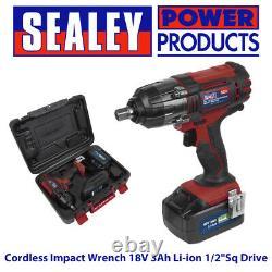 Sealey CP400LI 18V Cordless 1/2 Impact Wrench Gun 3Ah Li-ion Battery Charger