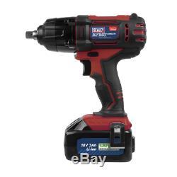 Sealey CP400LI Impact Wrench / Gun 18V Li-ion 1/2Sq 1 x 3.0Ah & Charger in Case