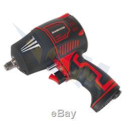 Sealey SA6006 Air Impact Wrench Gun 1/2 Drive Buzz Gun Half Inch Twin Hammer