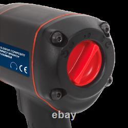 Sealey SA6007 1/2 SQ Dr Air Impact Wrench/Socket Gun/Ratchet Drill (1789 NM)