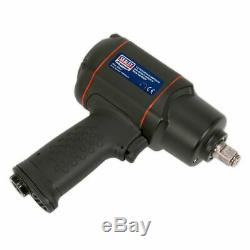 Sealey SA6007 Air Impact Wrench / Socket Gun Ratchet 1/2Sq Drive Twin Hammer