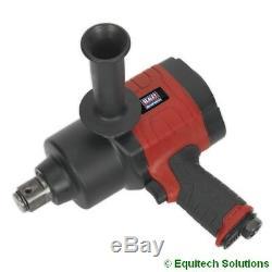 Sealey Tools GSA6005 Air Impact Wrench Gun 1 Sq Drive Twin Hammer Heavy Duty