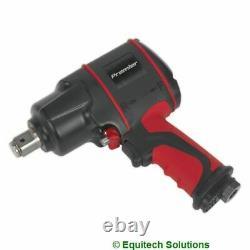 Sealey Tools SA6004 Air Impact Wrench Gun 3/4 Sq Drive Compact Twin Hammer