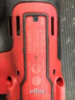 Snap On 14.4v 3/8 Impact Wrench Gun With Charger And Spare Battery CTEU761A