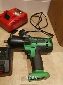 Snap On 18 Impact Wrench Driver 1/2 Gun Paid 800 with charger and 2 Batteries