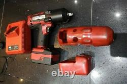 Snap On 18v 1/2 Inch Monster Lithium Cordless Impact Gun Wrench Cteu8850 Red