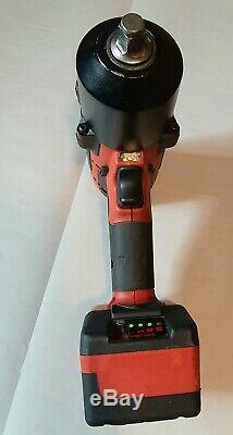 Snap-On 18v Cordless 1/2 Impact Gun Wrench CT8850 with Battery & Dual Charger
