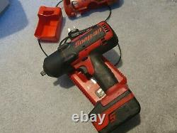 Snap On 18v Impact Wrench Gun Charger with boots 1/2 Inch CTEU7850