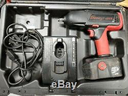 Snap-On 1/2 18V Cordless Impact Wrench Gun, 2.5Ah NICD battery and case