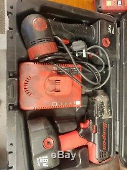 Snap-On 1/2 18V Cordless Impact Wrench Gun, 2 x batteries, case and torch
