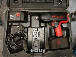 Snap-On 1/2 18V Cordless Impact Wrench Gun, 2x 3.5Ah newly rebuilt batteries