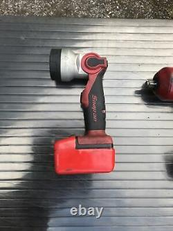 Snap On 1/2 18v Cordless Impact Wrench Gun Monster Lithium And Torch & Battery