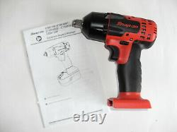Snap On 1/2 Drive 3/8 Size 18v Lithium-Ion Impact Gun Wrench Red. CTEU8815B