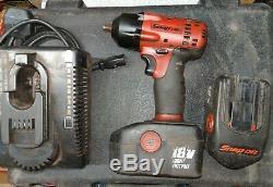 Snap-On 3/8 18V Cordless Impact Wrench Gun, 2x 3.5Ah NIMH batteries CTEU4418