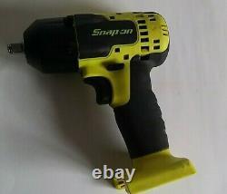 Snap On 3/8 Drive 18v Lithium-Ion Impact Gun Wrench Hi Vis. CTEU8810BHV CT8810