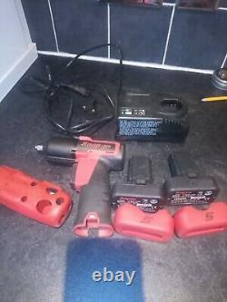 Snap On 3/8 Impact Gun Wrench With Two Batteries, Battery Charger, carry bag