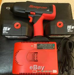 Snap-On CT6850 18v 1/2 Impact Wrench Gun With Two 18v Batteries and Charger