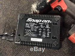 Snap On CT8850 1/2 18V Impact Gun Socket Wrench CTB8185O With CTC720 Charger
