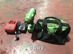 Snap-On CTEU8850 1/2 Drive 18v Cordless Impact Wrench/Gun, Lithium Battery x2