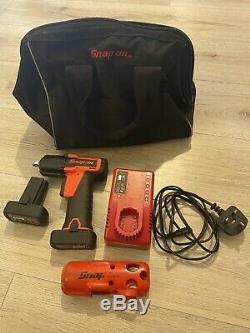 Snap On Impact Ratchet Gun Wrench CTEU761 3/8 Drive 14.4v Batteries Charger Bag