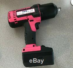 Snap-On Lithium Ion CT8850 18V 18 Volt Cordless 1/2 Impact Wrench / Gun Pink
