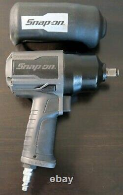 Snap On PT850GMG PT850 GUN METAL 1/2 Drive Air Impact Wrench withBoot L@@K