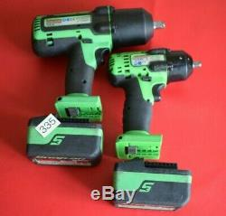 Snap On Tools 18v 1/2 & 3/8 Drive MonsterLithium Impact Wrench Guns (335)