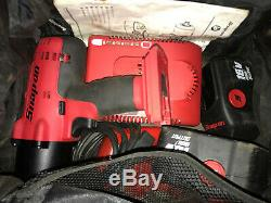 Snap On Tools 18v High Output 1/2 Drive Cordless Impact Wrench Gun 2 Batteries