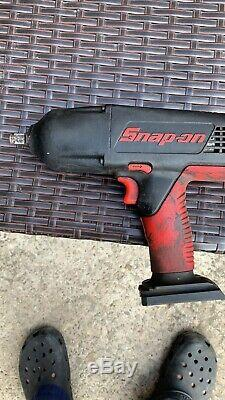 Snap On Tools 18v High Output 1/2 Drive Cordless Impact Wrench Gun In Case (4)