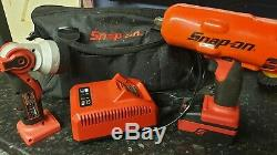 Snap On Tools, Snap-on, 18v 18 Volt 1/2 Cordless Impact Gun Wrench, Half Inch