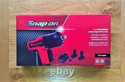 Snap on 14.4v 3/8 Impact Wrench Gun Orange, x1 battery, boot & charger CT761