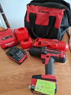 Snap on 1/2 battery impact gun/wrench 18v and 2 batteries CT8850