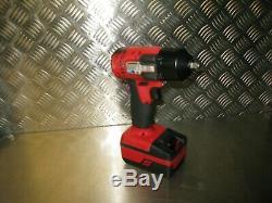 Snap-on Impact Gun 3/8'' Inch Drive Snap On Impact Wrench Body+ Batt 18v Li-ion