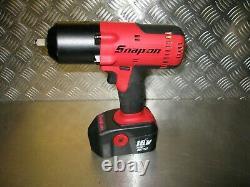 Snap-on Impact Wrench Body 1/2'' Drive Snap On 18v Ni-cd Gun + Batt Brand New