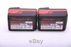 Snap-on Lithium Ion Ct8850 1/2 impact Wrench Gun Two Batt. & Charger Great Cond